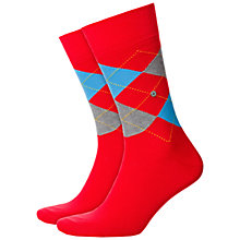 Buy Burlington King Size Argyle Socks, One Size, Red Online at johnlewis.com