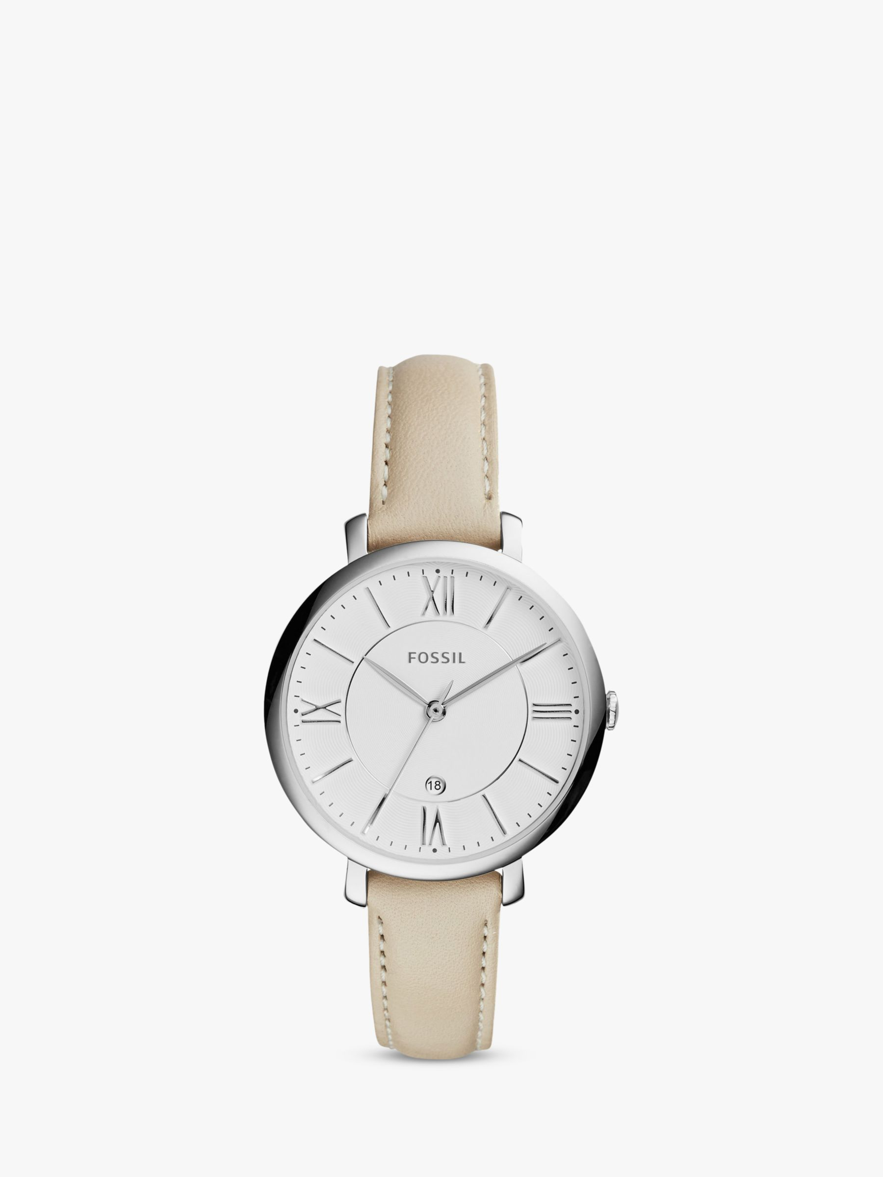 Fossil Fossil Women's Jacqueline Date Leather Strap Watch