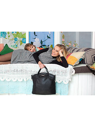 Buy Babymel Grace Vegan Leather Changing Bag, Black Online at johnlewis.com