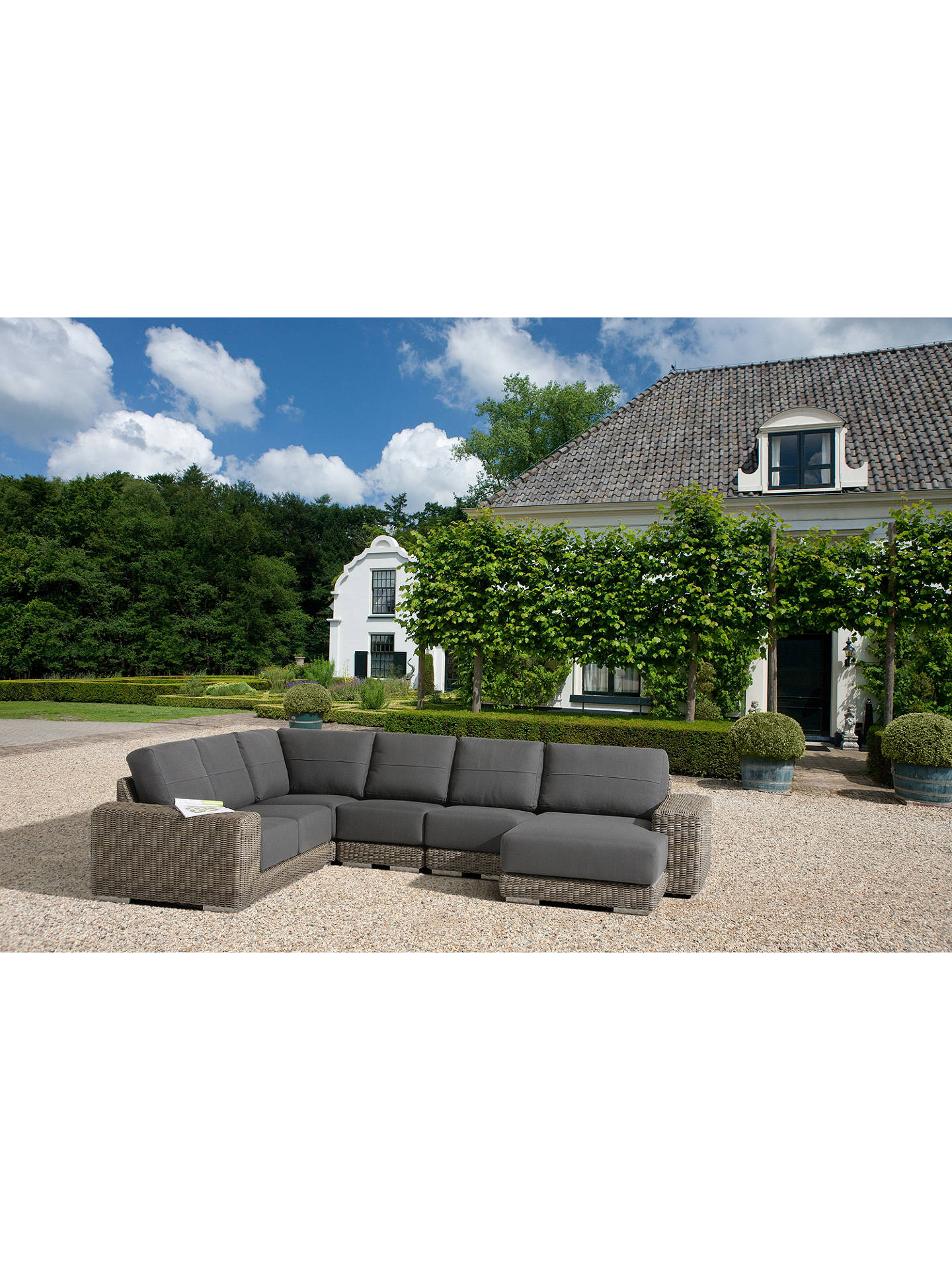 Buy4 Seasons Outdoor Kingston Modular Garden Corner Sofa Online at johnlewis.com