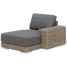 Buy 4 Seasons Outdoor Kingston Modular Garden Chaise Lounge, Left Hand Side Online at johnlewis.com