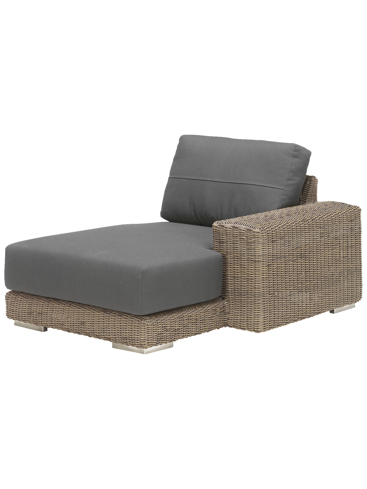 Buy4 seasons outdoor kingston modular garden chaise lounge left hand side online at johnlewis