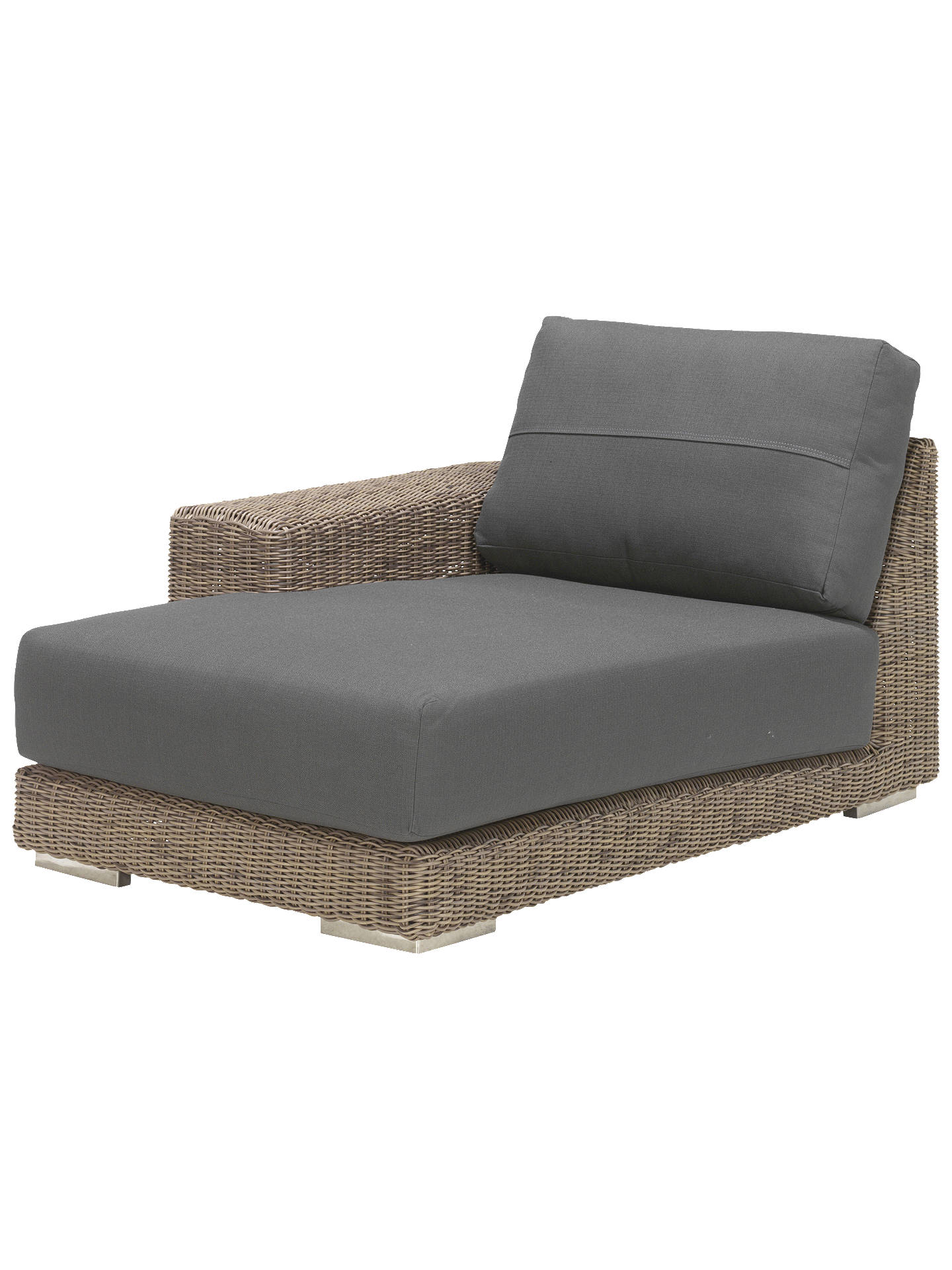 Buy4 seasons outdoor kingston modular garden chaise sofa right hand side online at johnlewis