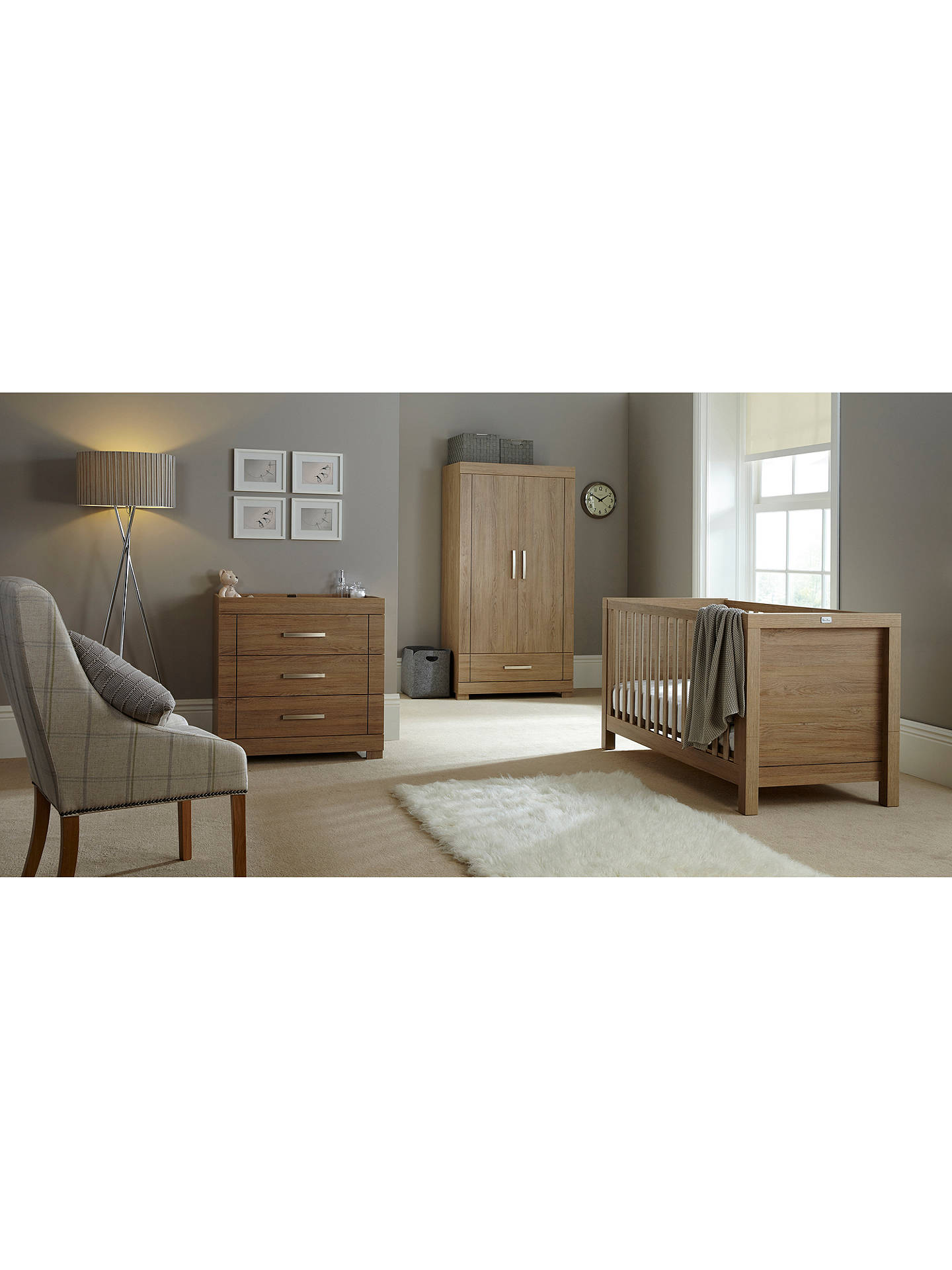 BuySilver Cross Portobello Wardrobe, Warm Oak Online at johnlewis.com