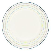 Buy John Lewis Hazlemere Stripe Plate, Multi, Dia.28cm Online at johnlewis.com