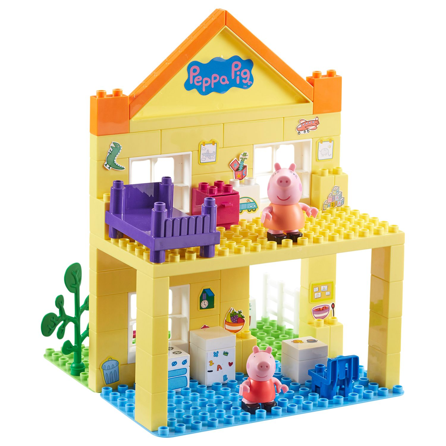 Peppa Pig Deluxe Peppa S House Construction Set At John Lewis Partners