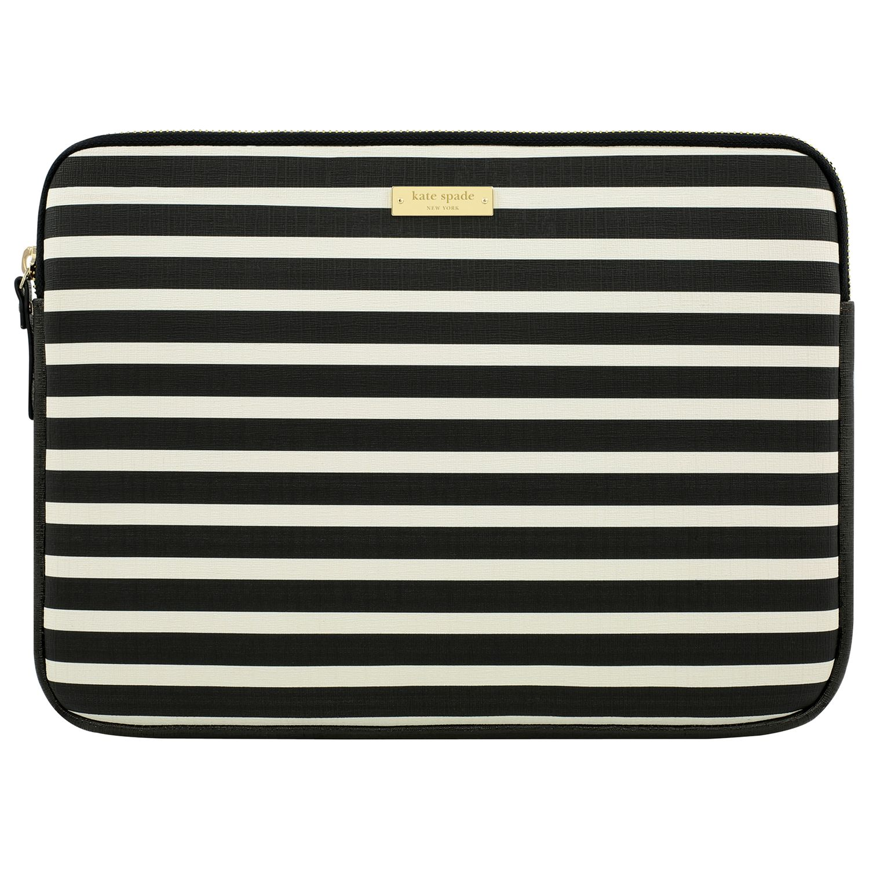Kate Spade New York Stripe Monochrome 13 Laptop Sleeve