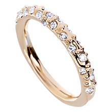 Buy Karen Millen Swarovski Crystal Sprinkle Ring, Gold Online at johnlewis.com