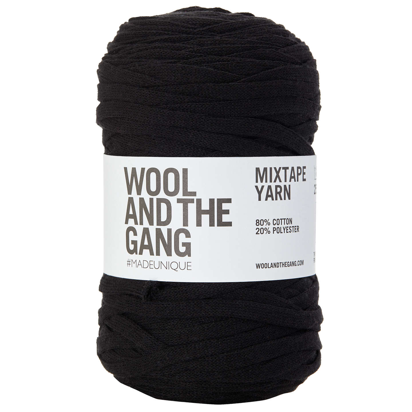 BuyWool and the Gang Mix Tape Yarn, 250g, Cinder Black Online at johnlewis.com