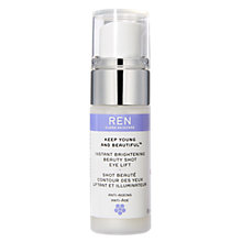 Buy REN Keep Young and Beautiful Instant Brightening Beauty Shot Eye Lift, 15ml Online at johnlewis.com