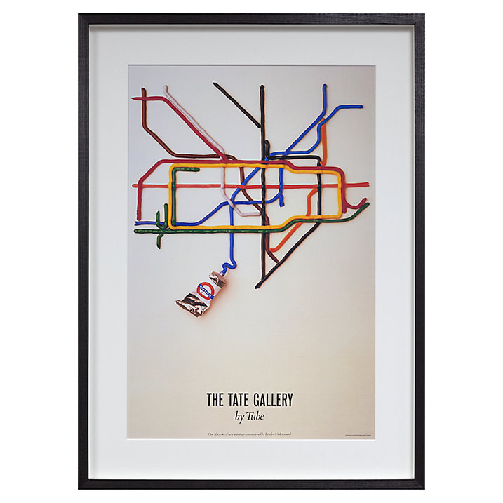London Transport Museum - Tate Gallery By Tube Framed Print, 69 x 50cm (£150)