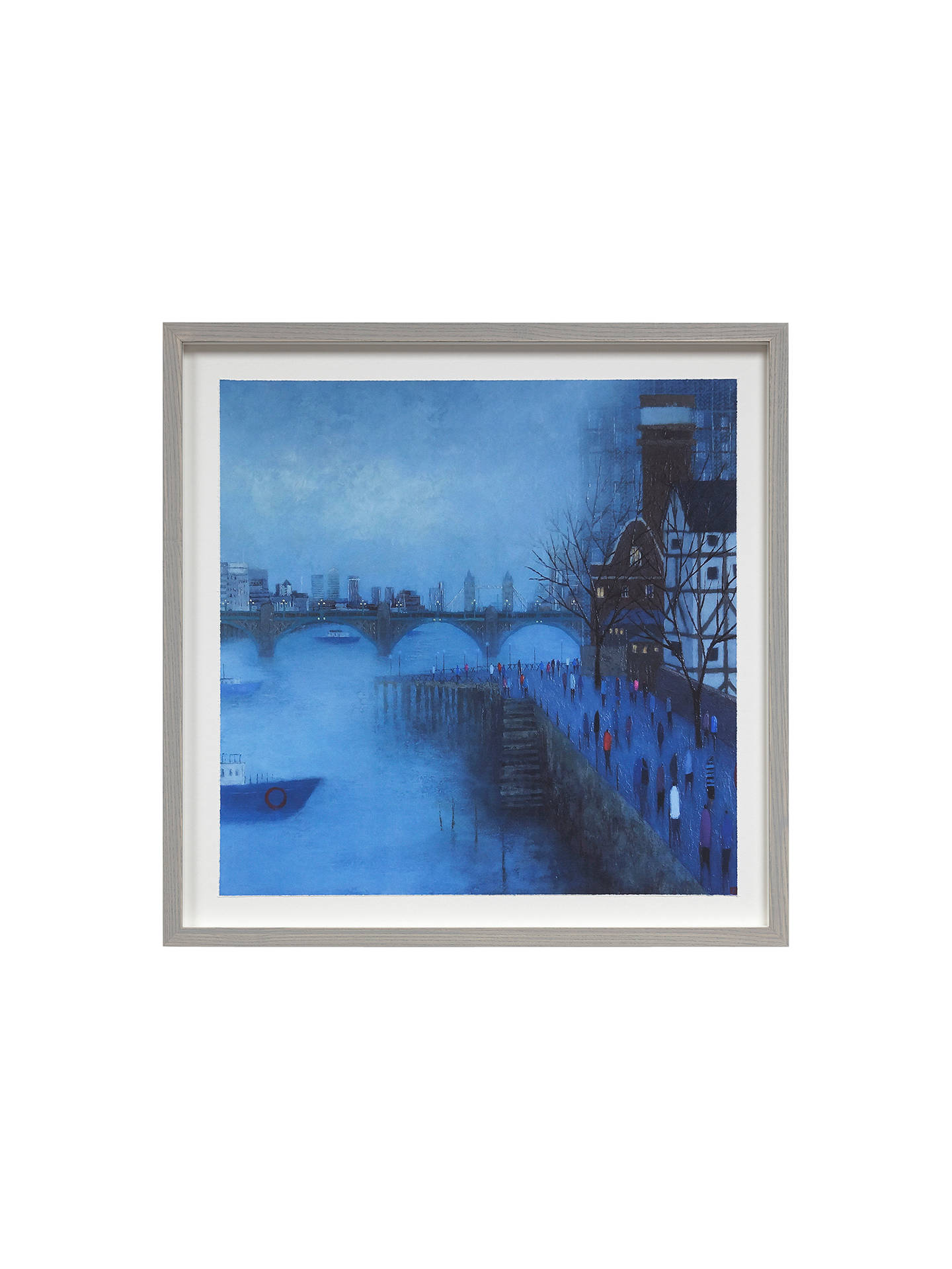 BuyEmma Brownjohn - Bridges in the Mist Framed Print, 50 x 50cm Online at johnlewis.com