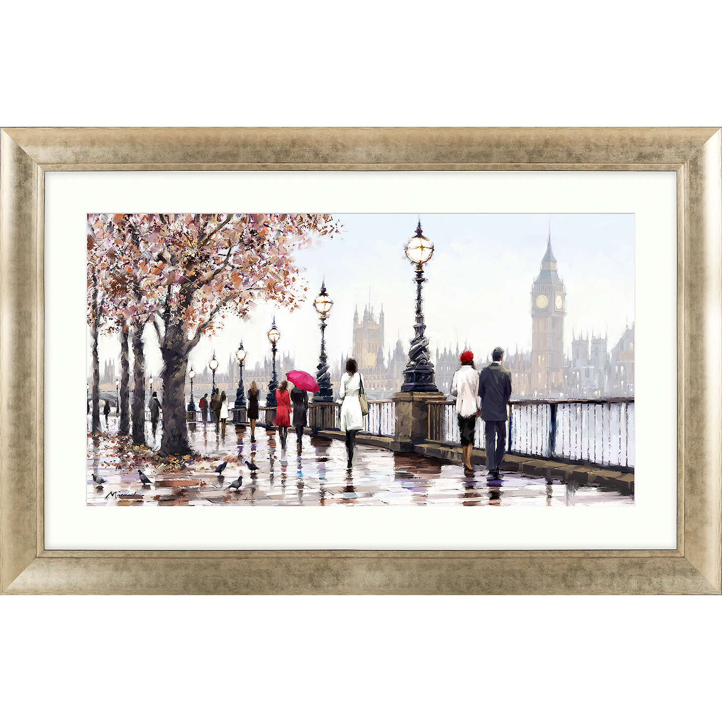 BuyRichard Macneil - Thames View Framed Print, 112 x 72cm Online at johnlewis.com