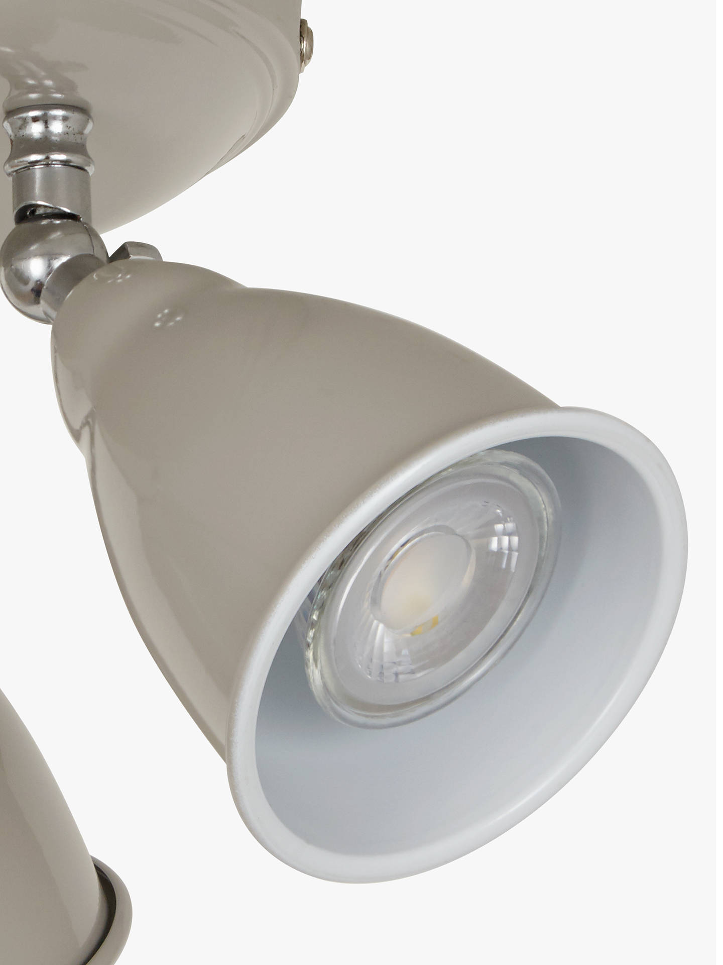 BuyJohn Lewis & Partners Plymouth GU10 LED 3 Spotlight Ceiling Plate, Taupe Online at johnlewis.com