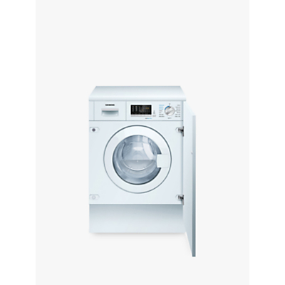 Siemens iQ500 WK14D540GB Integrated Washer Dryer, 7kg Wash/4kg Dry Load, B Energy Rating, 1400rpm Spin