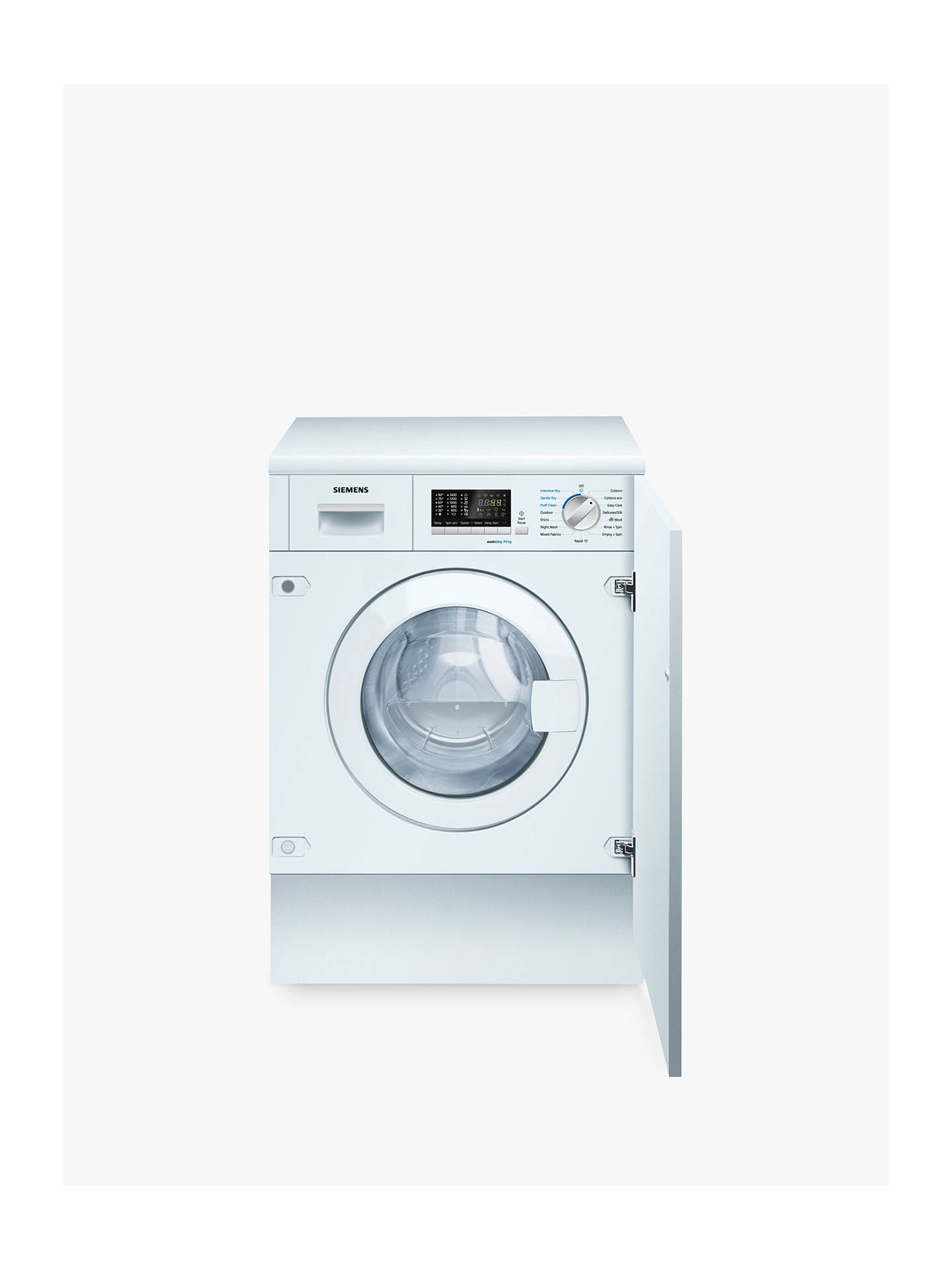 BuySiemens iQ500 WK14D541GB Integrated Washer Dryer, 7kg Wash/4kg Dry Load, B Energy Rating, 1400rpm Spin Online at johnlewis.com