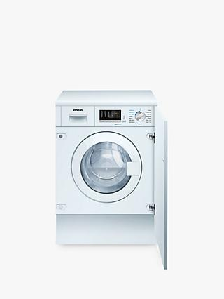 Siemens iQ500 WK14D541GB Integrated Washer Dryer, 7kg Wash/4kg Dry Load, B Energy Rating, 1400rpm Spin