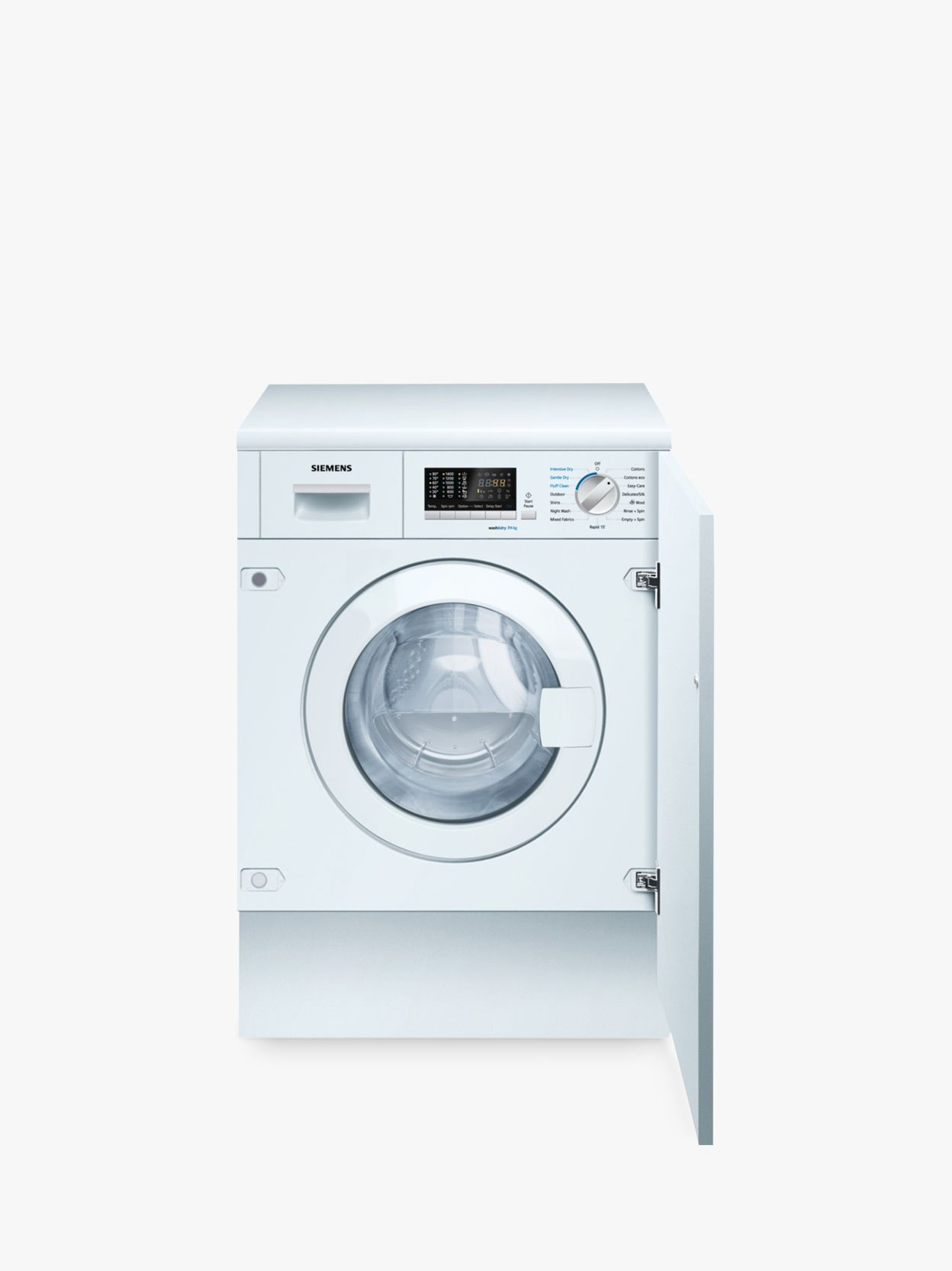 Siemens Siemens iQ500 WK14D541GB Integrated Washer Dryer, 7kg Wash/4kg Dry Load, B Energy Rating, 1400rpm Spin