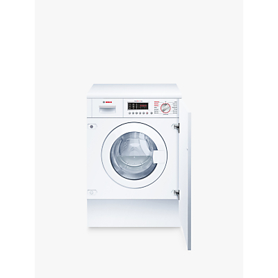 Bosch WKD28541GB Integrated Washer Dryer, 7kg Wash/4kg Dry Load, B Energy Rating, 1400rpm Spin
