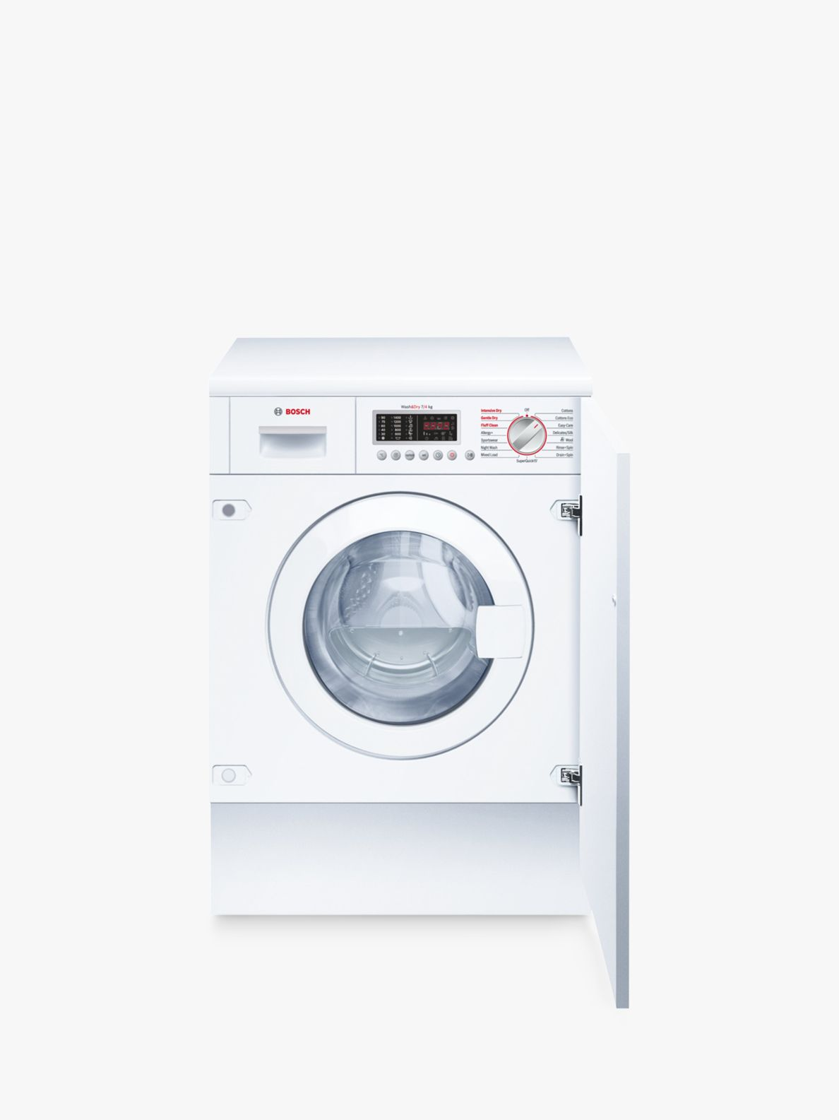 Bosch Bosch WKD28541GB Integrated Washer Dryer, 7kg Wash/4kg Dry Load, B Energy Rating, 1400rpm Spin