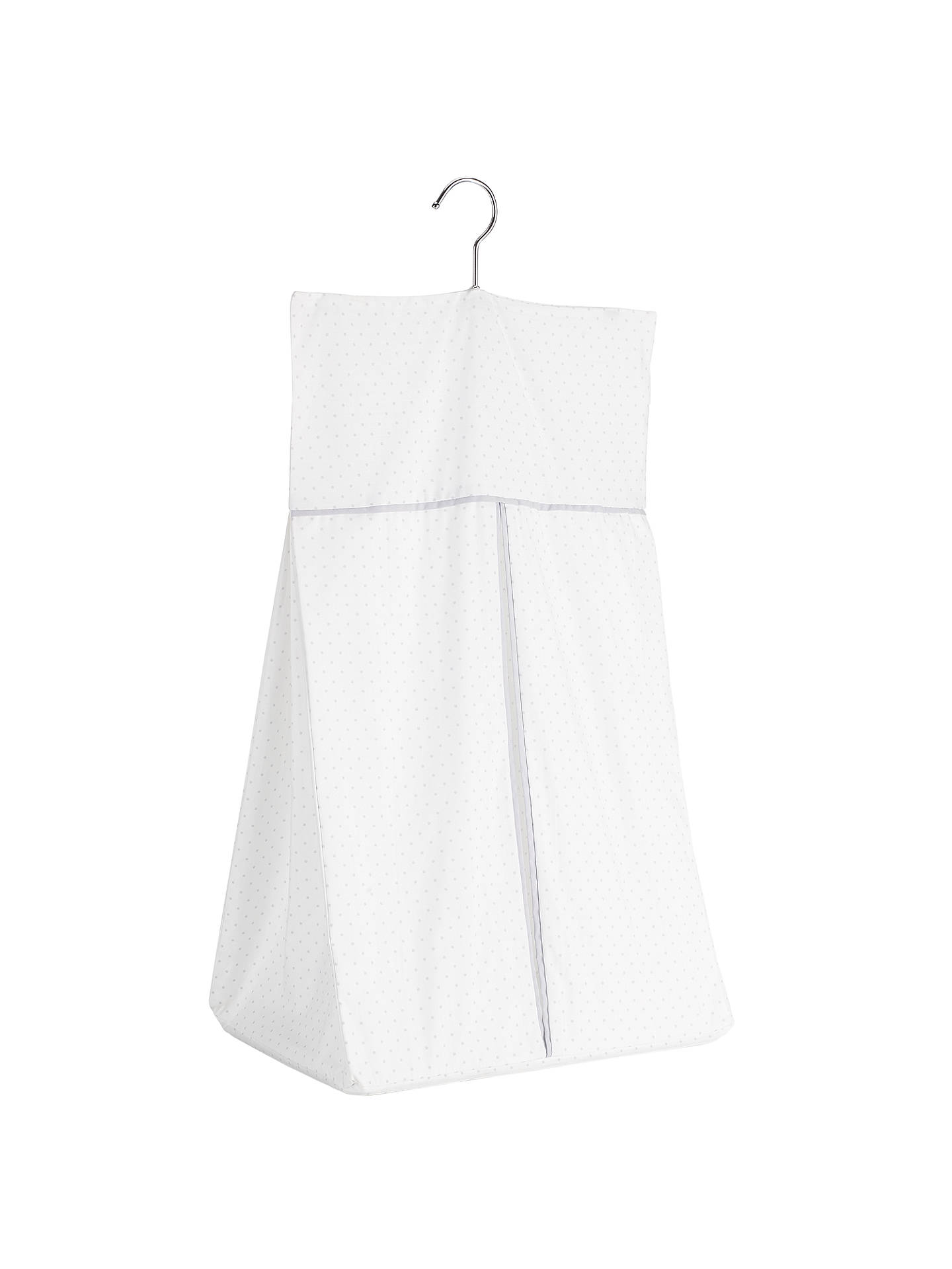 BuyJohn Lewis Spot Print Nappy Stacker, White/Grey Online at johnlewis.com
