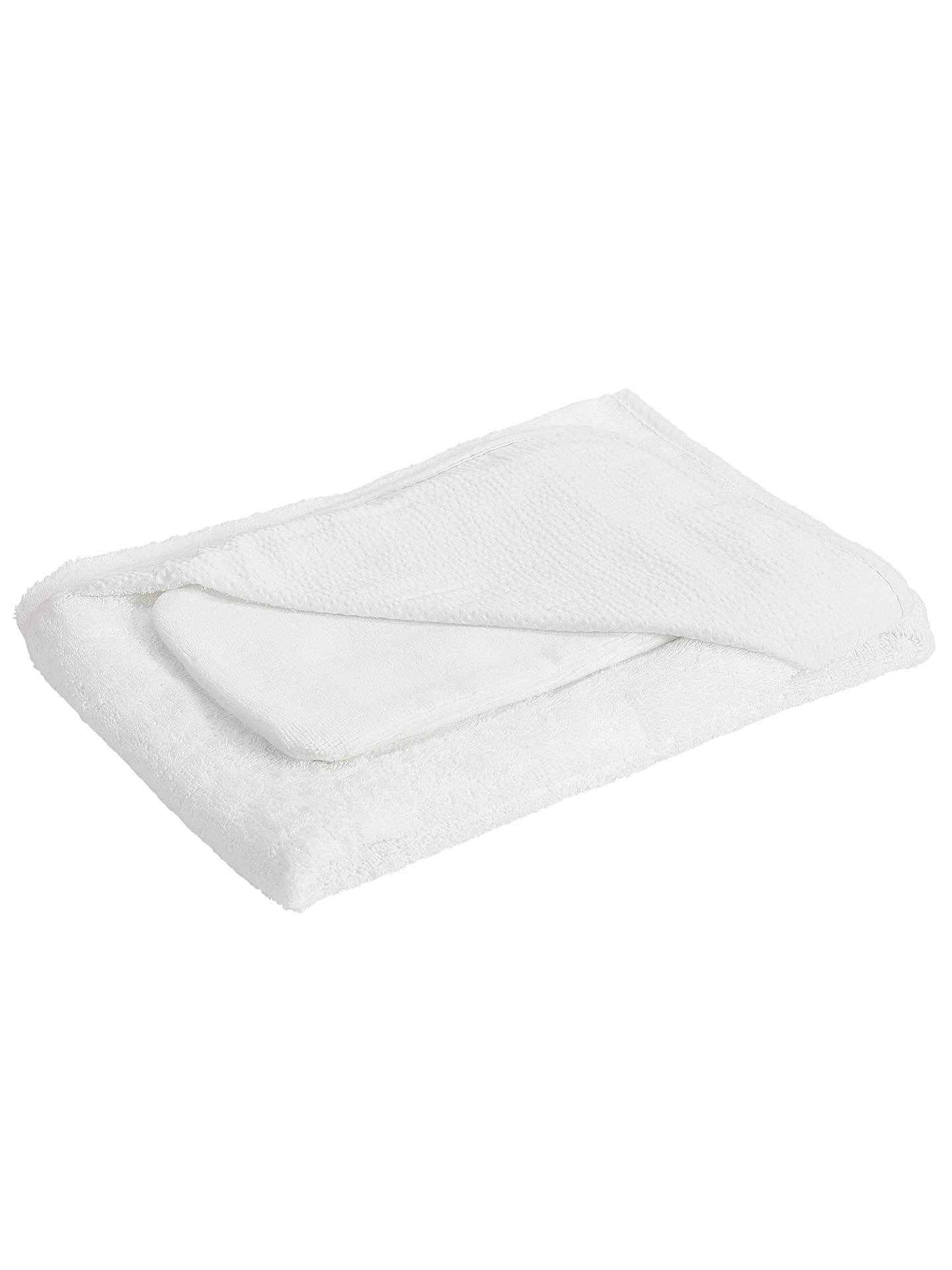 BuyJohn Lewis & Partners Seersucker Hooded Towels and Wash Mitt, Pack of 2, White Online at johnlewis.com