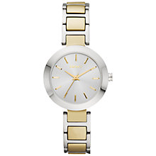 Buy DKNY Women's Two Tone Stainless Steel Stanhope Bracelet Strap Watch Online at johnlewis.com