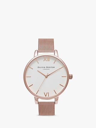 Olivia Burton Women's Big Dial Mesh Bracelet Strap Watch