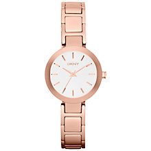 Buy DKNY NY2400 Women's Stainless Steel Stanhope Bracelet Strap Watch, Rose Gold Online at johnlewis.com