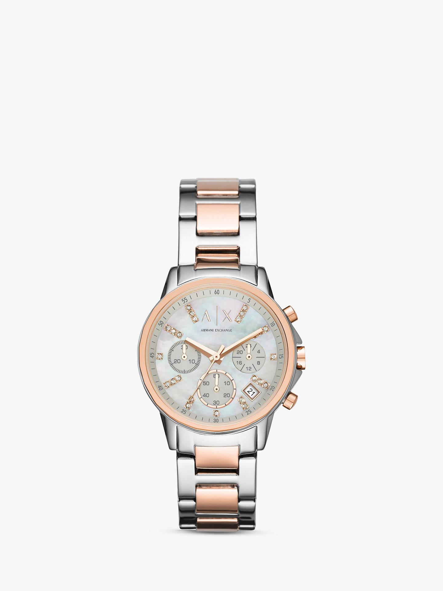 BuyArmani Exchange AX4331 Women s Chronograph Date Two Tone Bracelet Strap  Watch 2351a69370