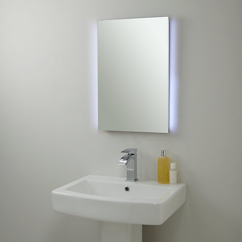 john lewis bathroom mirrors buy lewis illuminated bathroom mirror with infrared 18950