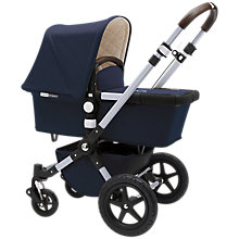Buy Bugaboo Navy Cameleon 3 Bundle with Free Grey Melange  Footmuff Online at johnlewis.com