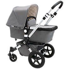 Buy Bugaboo Grey Cameleon 3 Bundle with Free Black Footmuff Online at johnlewis.com