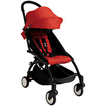 Buy Babyzen Yoyo+ Pushchair, Newborn Pack and Footmuff Bundle, Black/Red Online at johnlewis.com