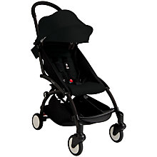 Buy Babyzen Yoyo+ Pushchair, Newborn Pack and Footmuff Bundle, Black/Black Online at johnlewis.com