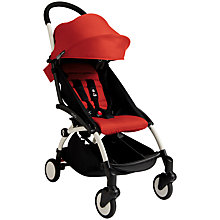 Buy Babyzen Yoyo+ Pushchair, White/Red/Black Online at johnlewis.com