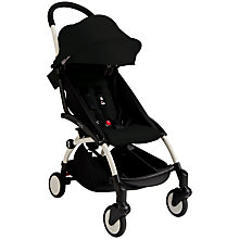 Buy Babyzen Yoyo+ Pushchair, Newborn Pack and Footmuff Bundle, White/Black Online at johnlewis.com