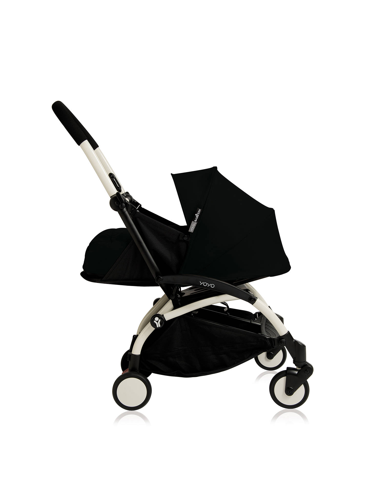 Buy BABYZEN YOYO+ Pushchair, White/Black Online at johnlewis.com