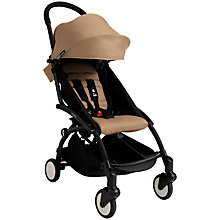 Buy Babyzen Yoyo+ Pushchair, Newborn Pack and Footmuff Bundle, Black/Taupe Online at johnlewis.com