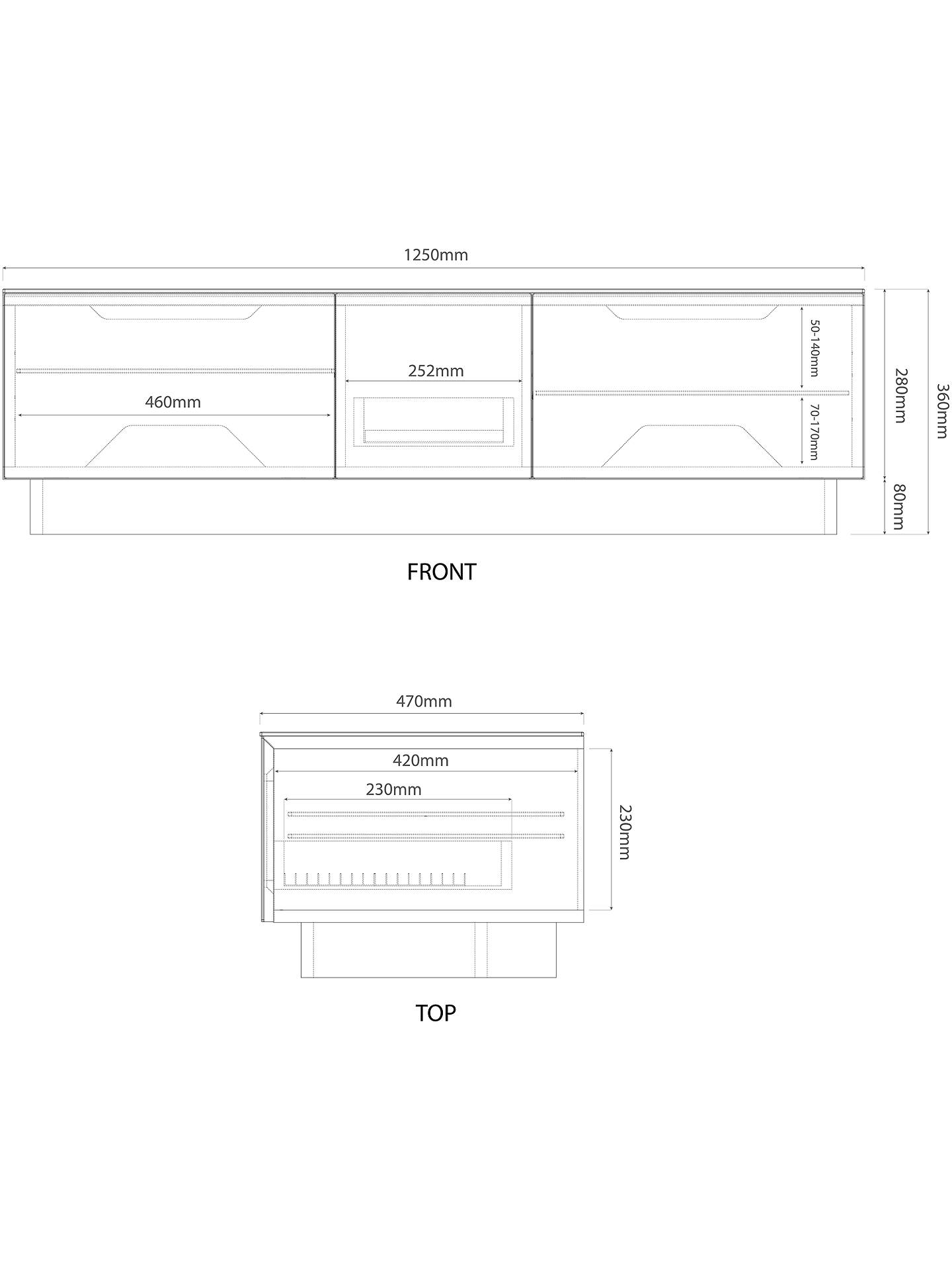 Alphason Element Modular 1250mm Stand For TVs Up To 60\
