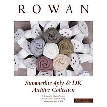 Buy Rowan Summerlite 4 Ply and DK Archive Collection Pattern Brochure Online at johnlewis.com