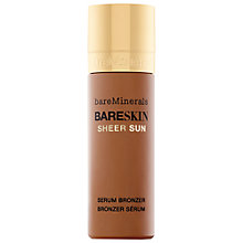 Buy bareMinerals bareSkin® Sheer Sun Serum Bronzer, 30ml + The Perfecting Face Brush Online at johnlewis.com