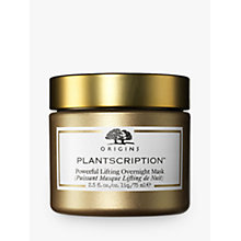Buy Origins Plantscription Powerful Lifting Overnight Mask, 75ml Online at johnlewis.com