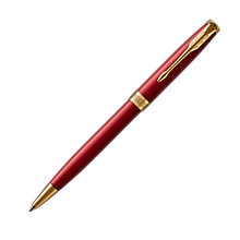 Buy Parker Sonnet Matt Lacquer Ballpoint Pen, Red/Gold Online at johnlewis.com
