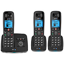 Buy BT 6610 Digital Cordless Phone With Nuisance Call Blocking & Answering Machine, Trio DECT Online at johnlewis.com