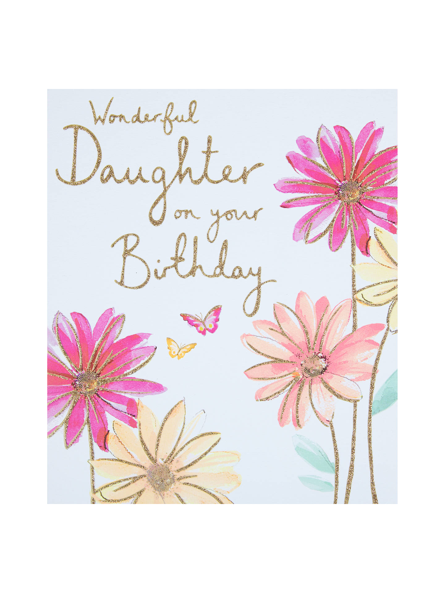 BuyWoodmansterne Butterflies And Flowers Daughter Birthday Card Online At Johnlewis