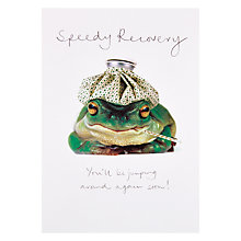 Buy Woodmansterne Frog Speedy Recovery Get Well Card Online at johnlewis.com