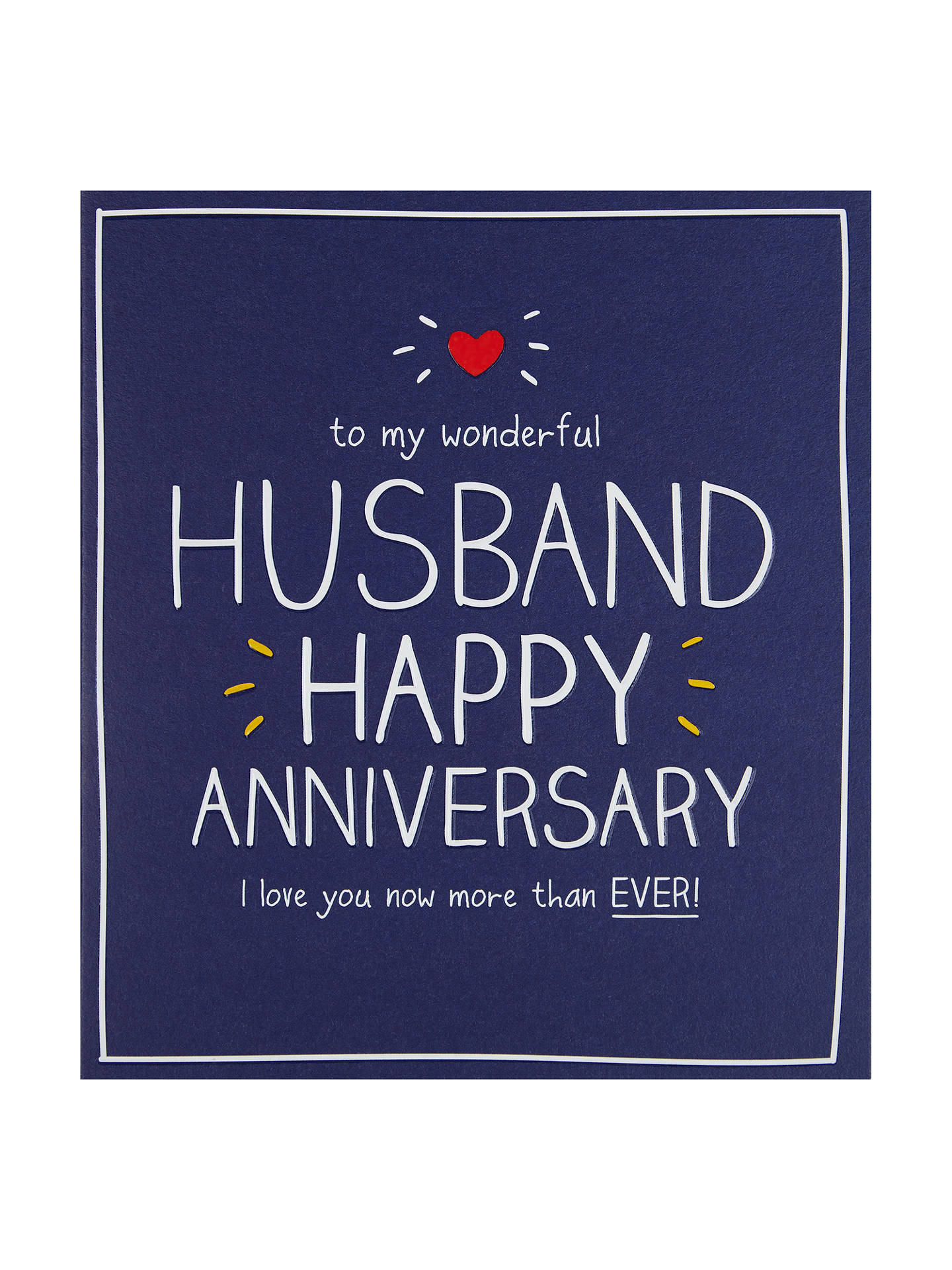Happy Jackson Husband Happy Anniversary Card At John Lewis Partners