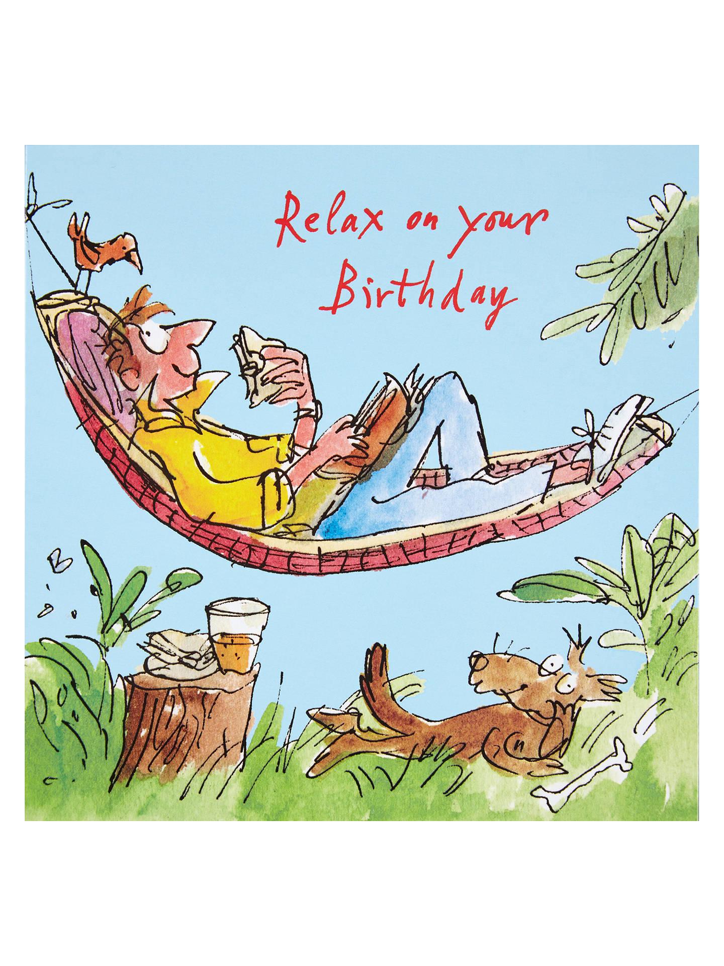 Buy Woodmansterne Man Lying In Hammock Birthday Card Online At Johnlewis