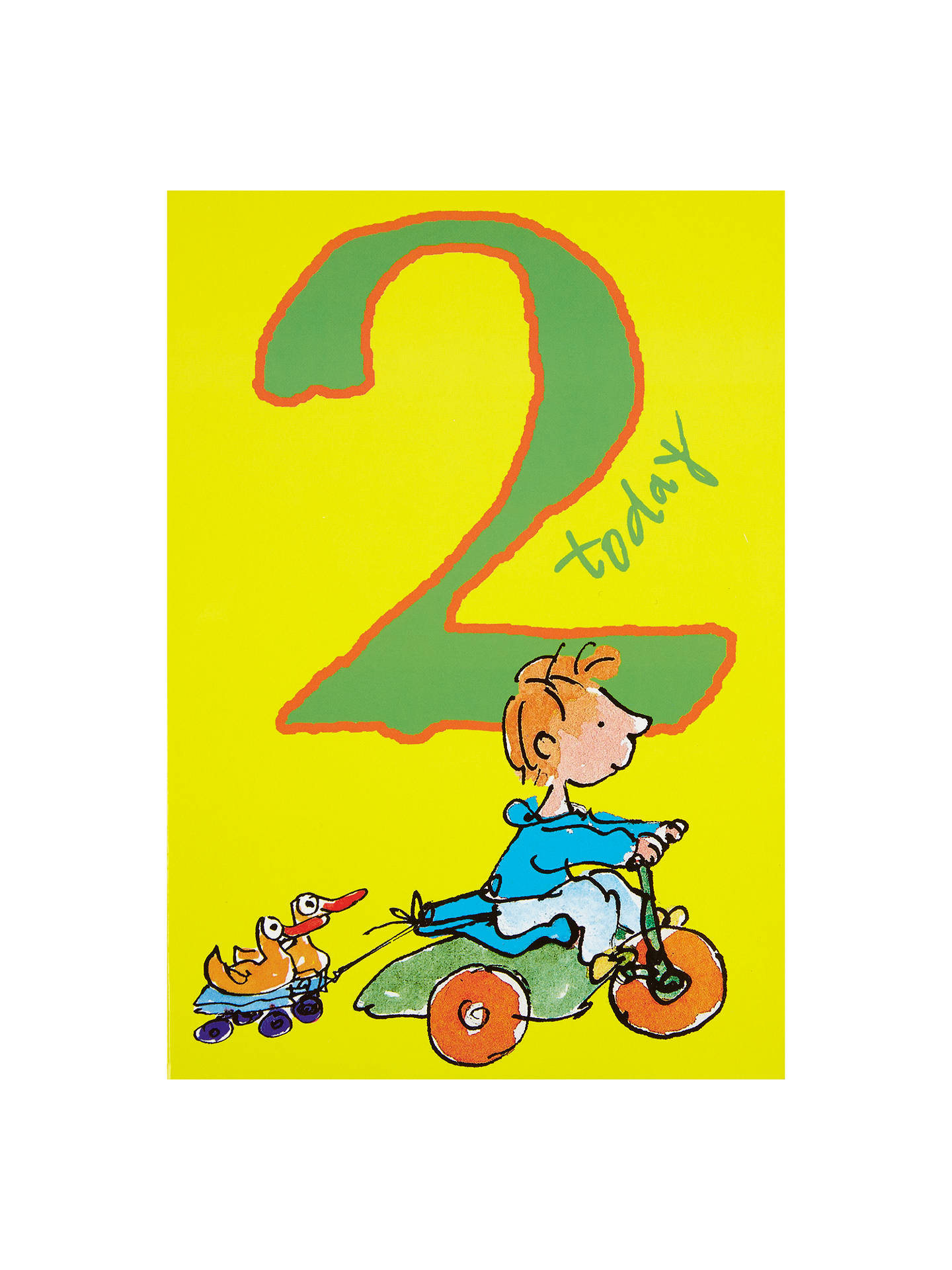 BuyWoodmansterne Boy On Tricycle 2nd Birthday Card Online At Johnlewis